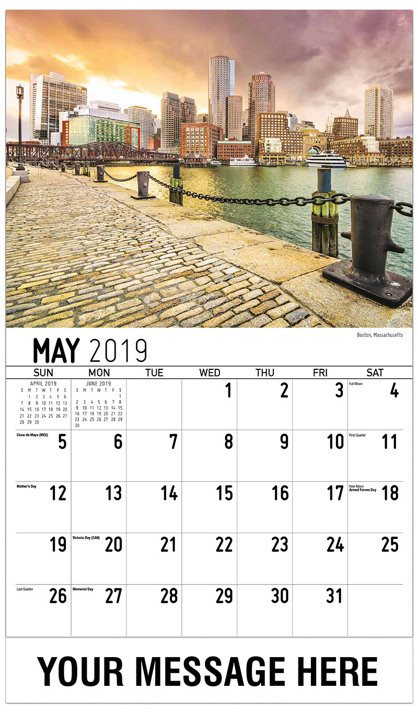 2019 Promotional Calendar - Boston, Massachusetts - May