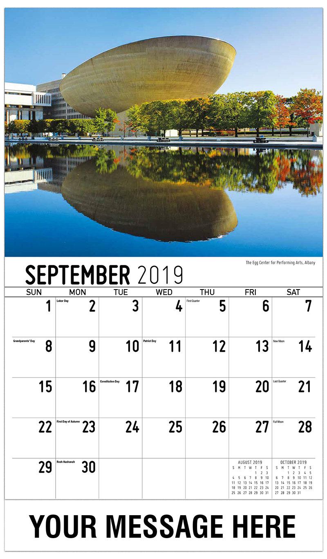 2019 Promo Calendar - The Egg Center For Performing Arts, Albany - September