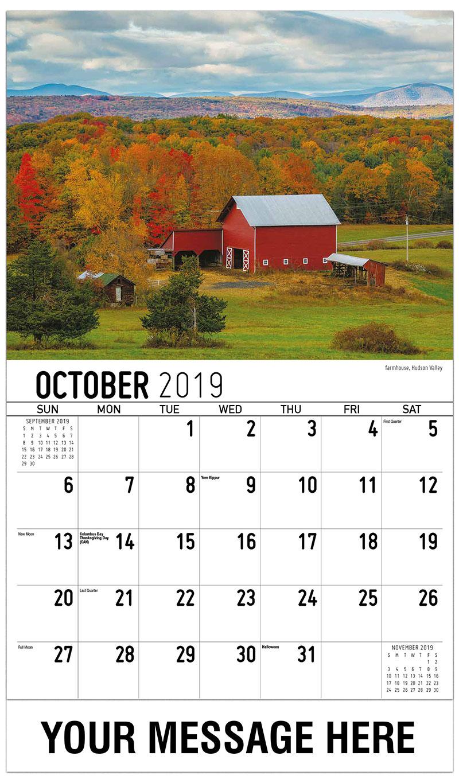 2019 Promo Calendar - Farmhouse, Hudson Valley - October