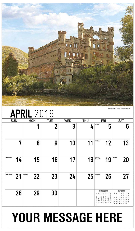 2019 Promotional Calendar - Bannerman Castle, Pollepel Island - April