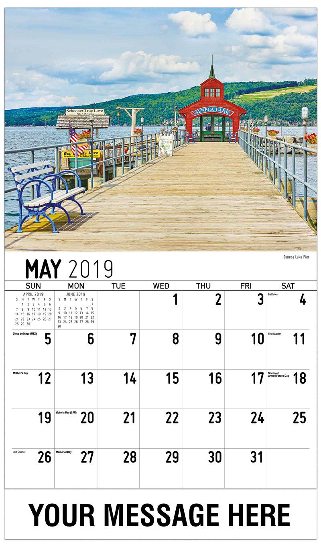 2019 Promotional Calendar - Seneca Lake Pier - May