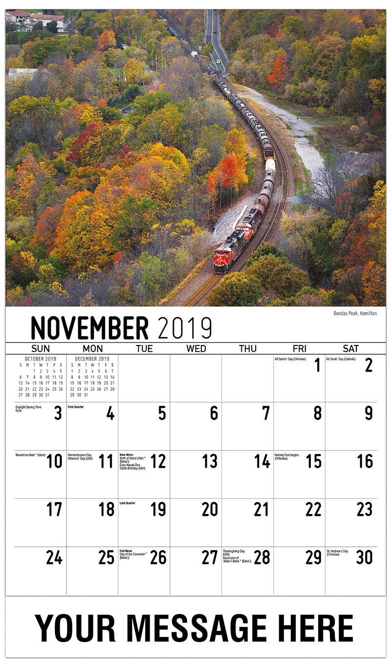 2019 Advertising Calendar - Dundas Peak , Hamilton - November