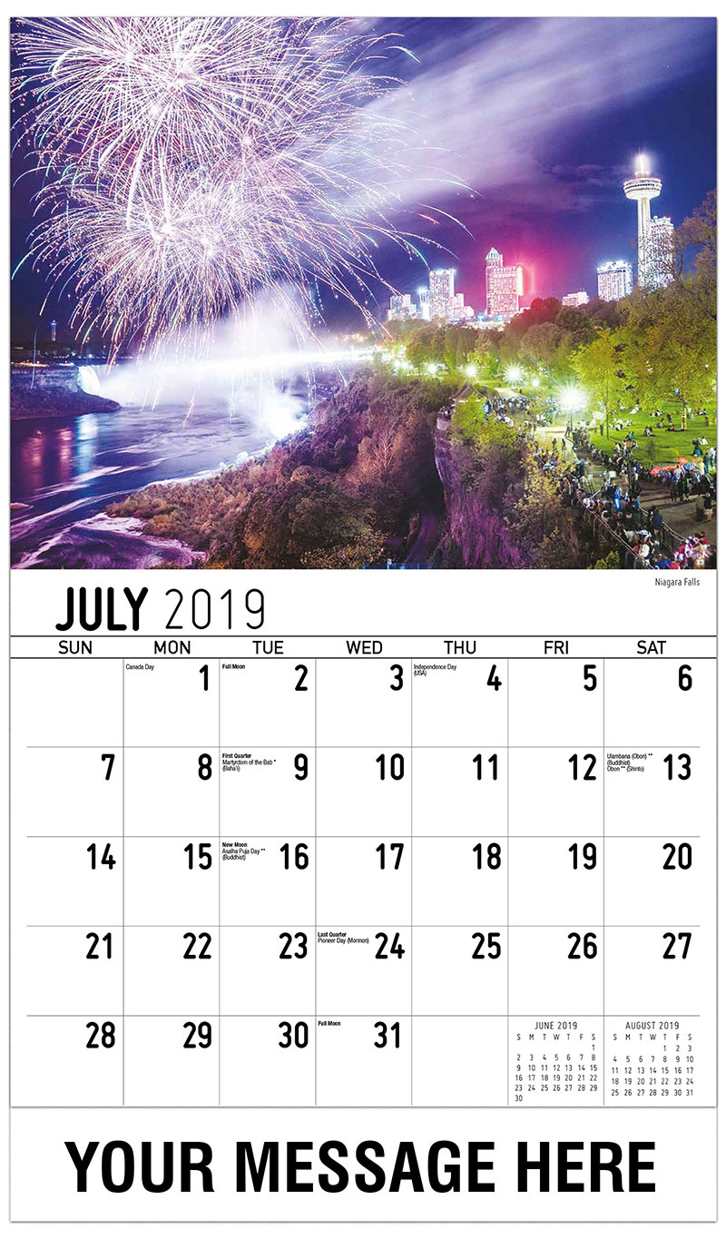 2019 Business Advertising Calendar - Niagara Falls - July