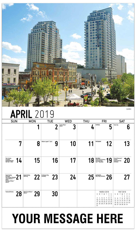 2019 Promo Calendar - London - April
