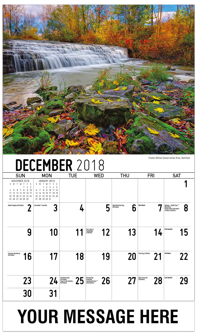 2019 Promotional Calendar - Crooks Hollow Conservation Area, Hamilton - December_2018