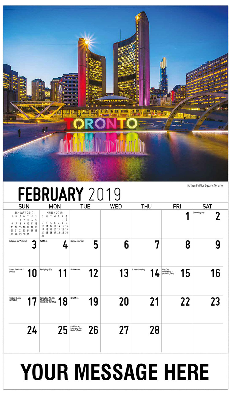 2019 Promotional Calendar - Nathan Phillips Square, Toronto - February
