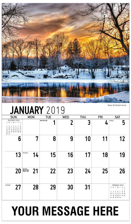 2019 Advertising Calendar - Bangor, Northampton County - January