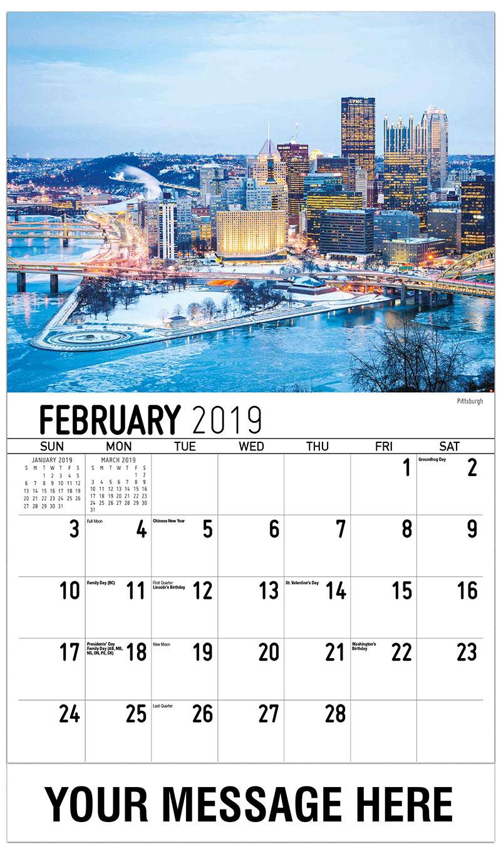 2019 Advertising Calendar - Pittsburgh - February