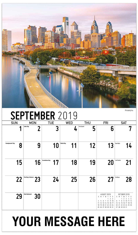 2019 Promo Calendar - Philadelphia - September