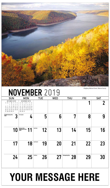 2019 Promo Calendar - Allegheny National Forest, Warren County - November