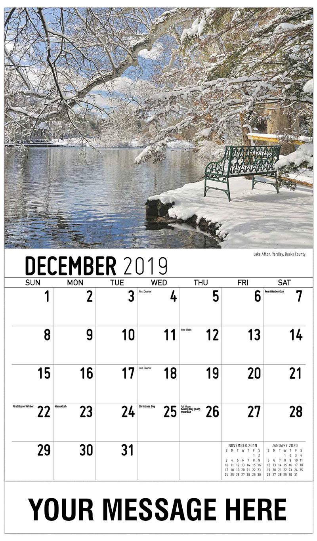 2019 Promo Calendar - Lake Afton, Yardley, Bucks County - December_2019