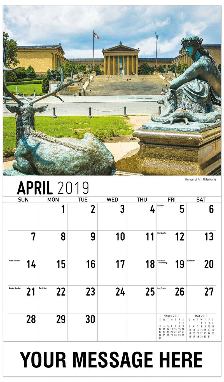 2019 Promotional Calendar - Museum Of Art, Philadelphia - April