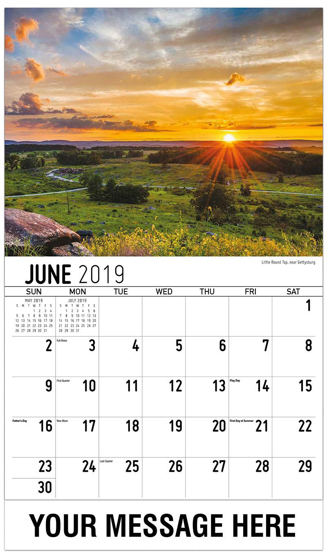 2019 Promotional Calendar - Little Round Top, Near Gettysburg - June