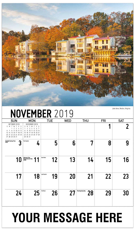 2019 Advertising Calendar - Lake Anne, Reston, Virginia - November