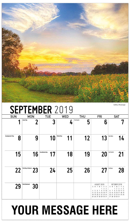 2019 Business Advertising Calendar - Collins, Mississippi - September