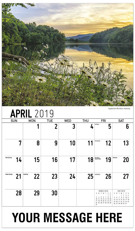 2019 Promo Calendar - Appalachian Mountains, Kentucky - April