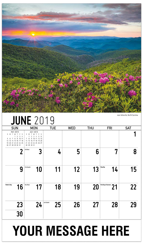 2019 Promo Calendar - Near Asheville, North Carolina - June
