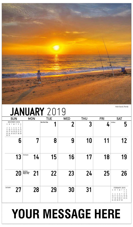 2019 Promotional Calendar - Hobe Sound, Florida - January