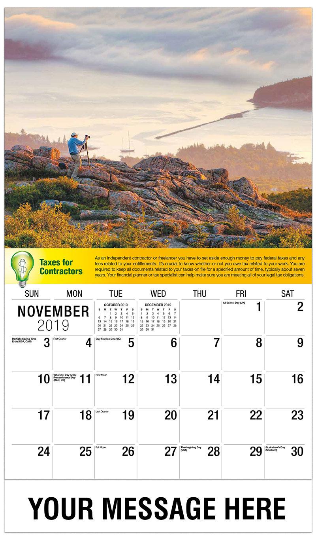 2019 Advertising Calendar - Looking Over The Horizon - November