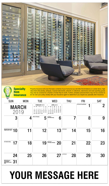 2019 Promotional Calendar - Wine Sellar - March
