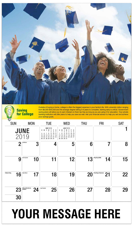 2019 Promotional Calendar - Gaduation - June