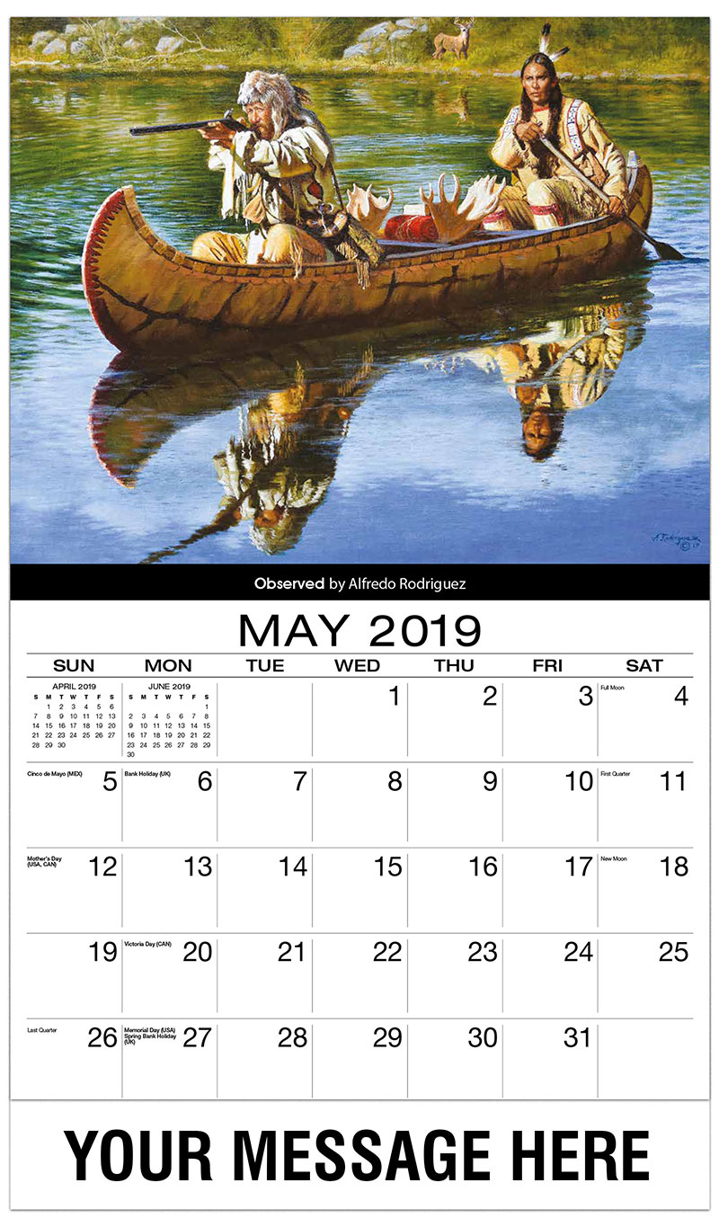 2019 Promo Calendar - Observed By Alfredo Rodriquez - May
