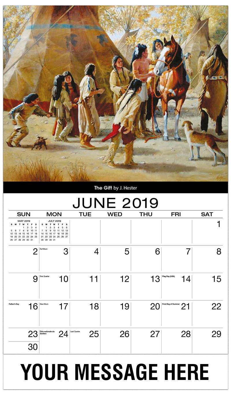 2019 Promo Calendar - The Gift By J. Hester - June