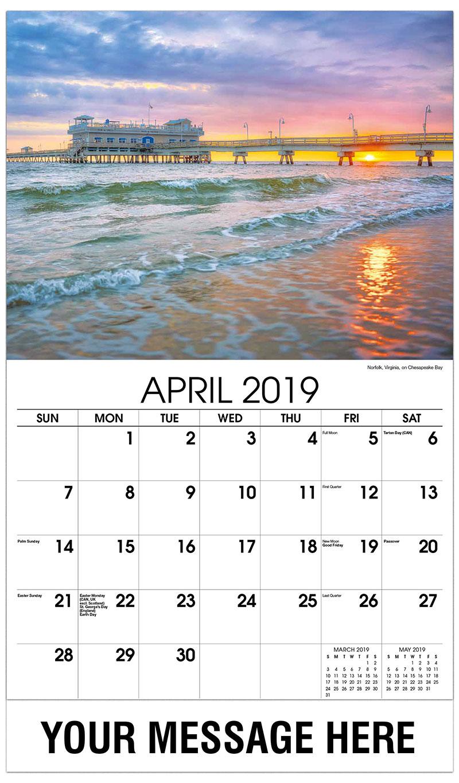 2019 Promo Calendar - Norfolk, Virginia, on Chesapeak Bay - April