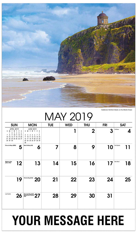 2019 Promo Calendar - Castlerock, Northern Ireland, on the Atlantic Ocean - May
