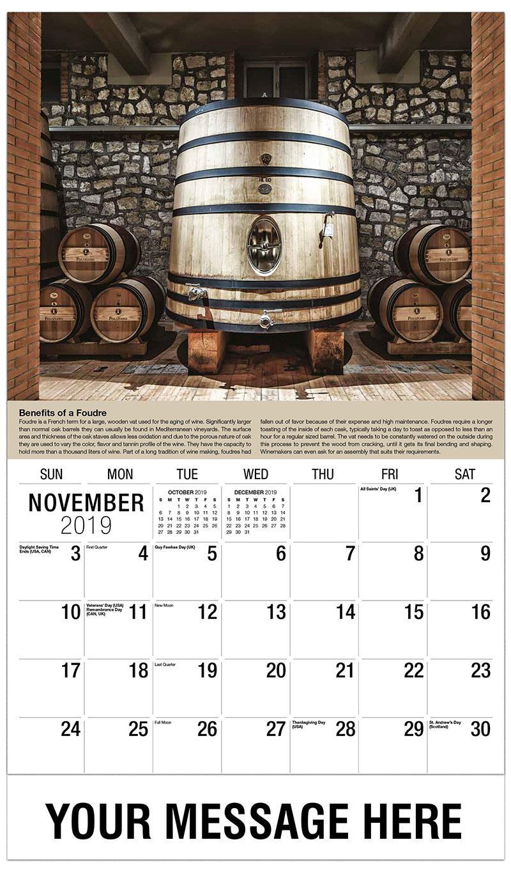 2019 Advertising Calendar - Wine Vat - November