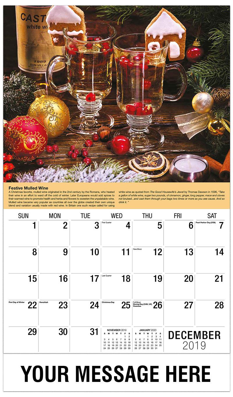 2019 Advertising Calendar - Christmas Wine - December_2019
