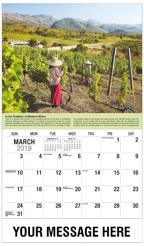 2019 Promo Calendar - Vineyard Myanmar - March