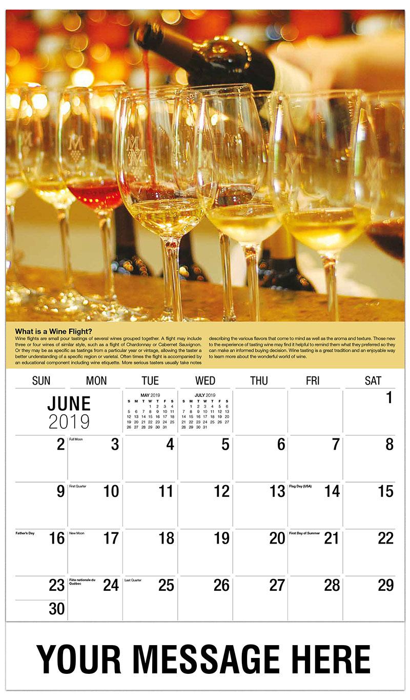 2019 Promo Calendar - Wine Flight - June