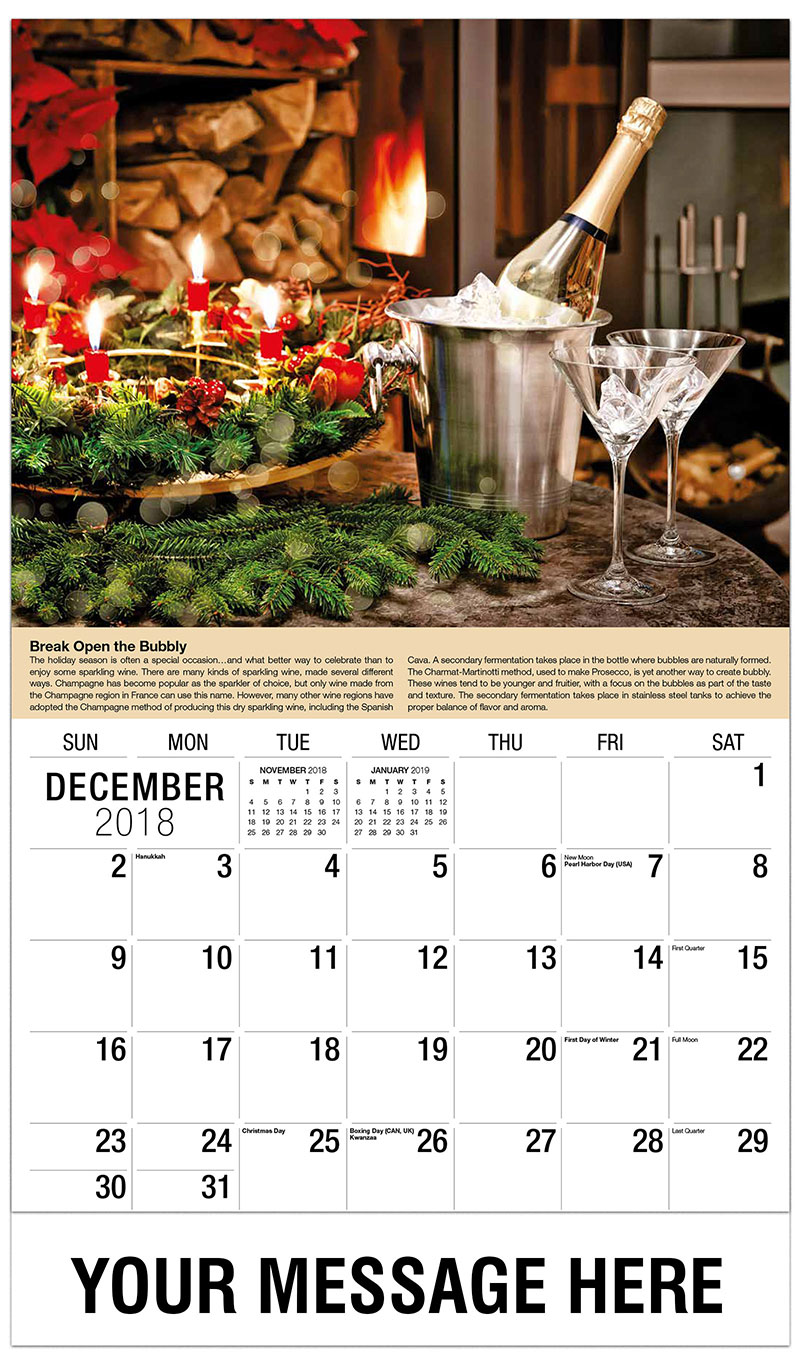 2019 Promotional Calendar - Bucket of Champagne - December_2018