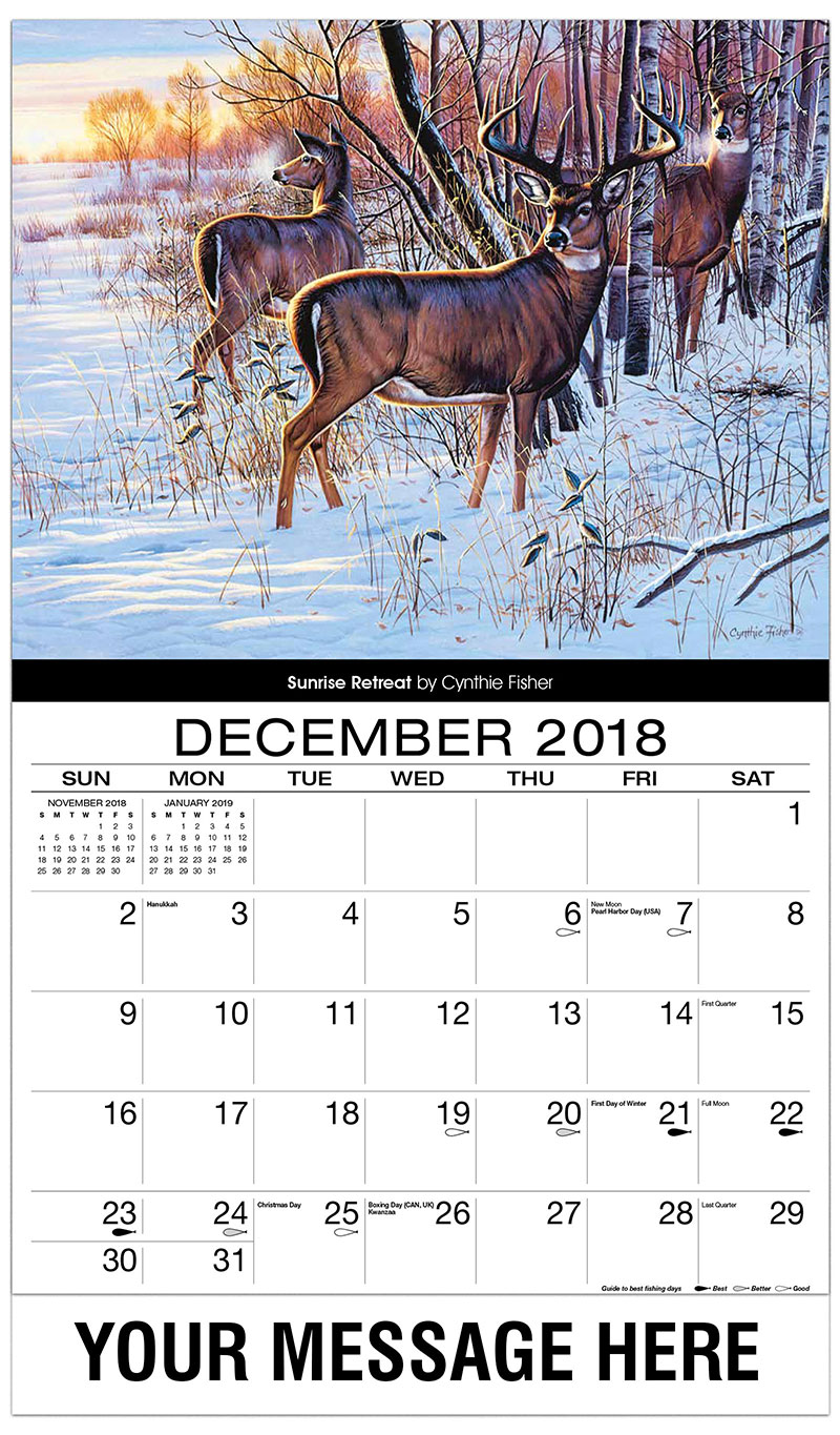 2019 Advertising Calendar - Sunrise Retreat - December_2018