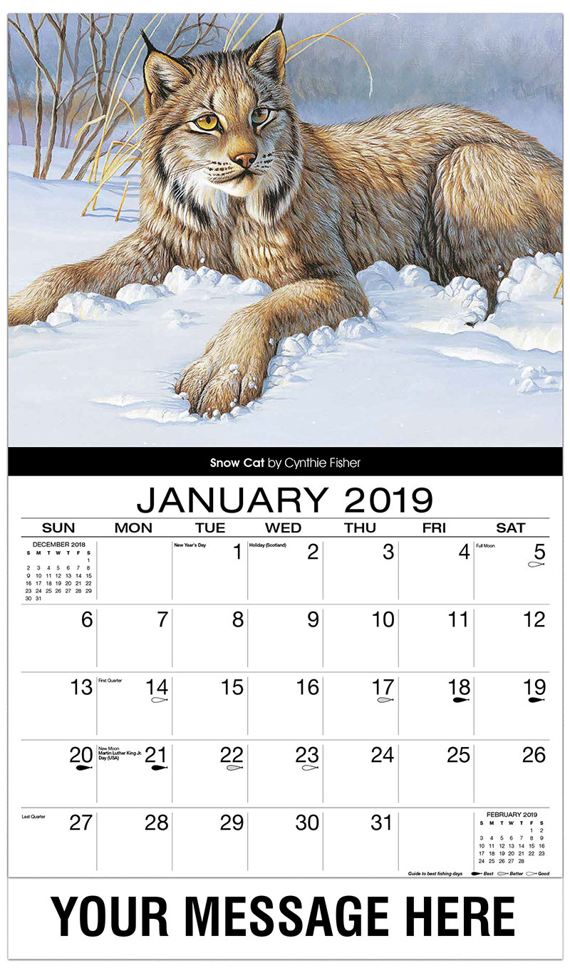 2019 Advertising Calendar - Snow Cat - January