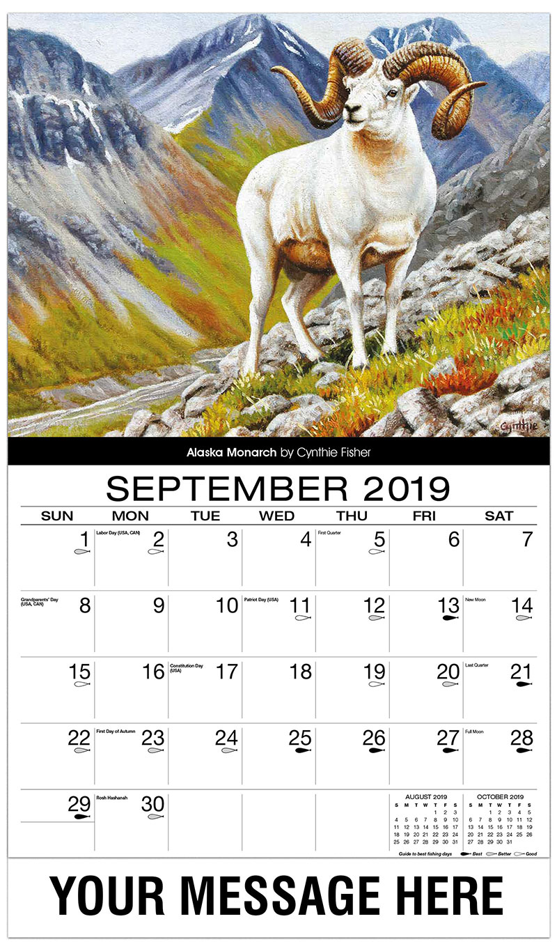 2019 Promo Calendar - Alaska Monarch - September