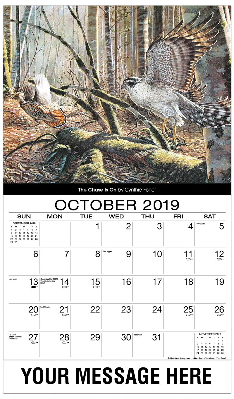 2019 Promo Calendar - The Chase Is On - October