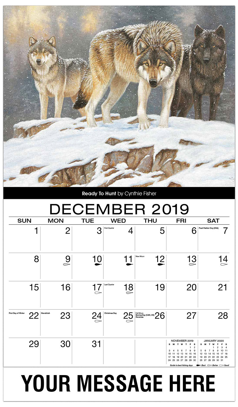 2019 Promo Calendar - Ready To Hunt - December_2019