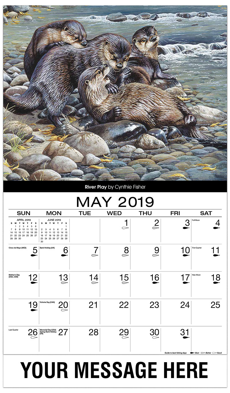 2019 Promotional Calendar - River Play - May