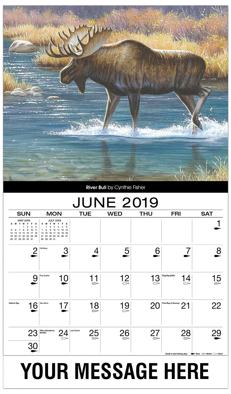 2019 Promotional Calendar - River Bull - June