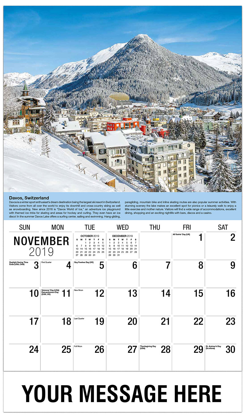 2019 Advertising Calendar - Davos, Switzerland - November