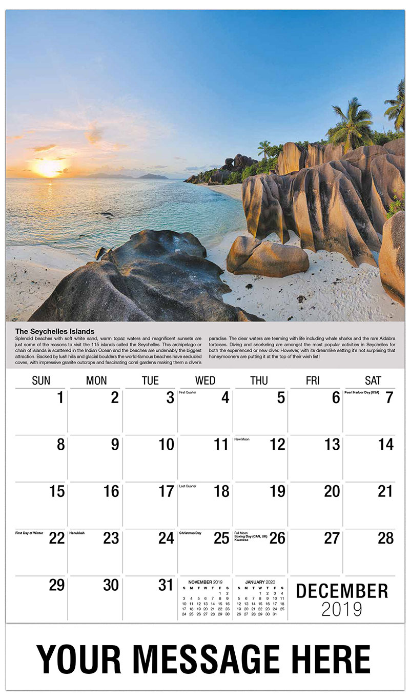 2019 Advertising Calendar - The Seychelle Islands - December_2019