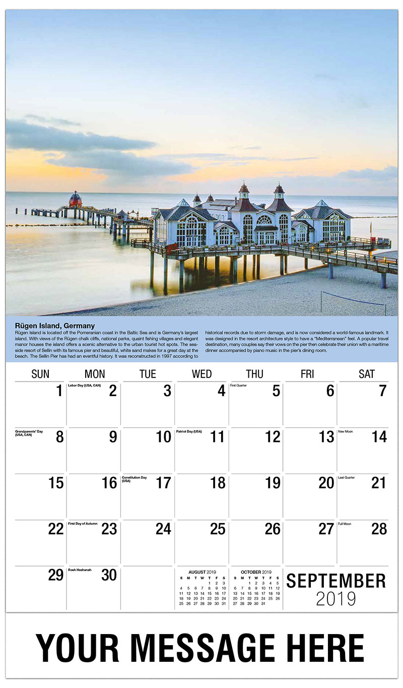 2019 Business Advertising Calendar - Rugen Island, Germany - September