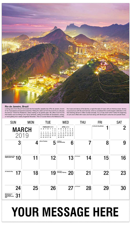 Travel Destinations of the World | 65¢ Business Promo Calendar