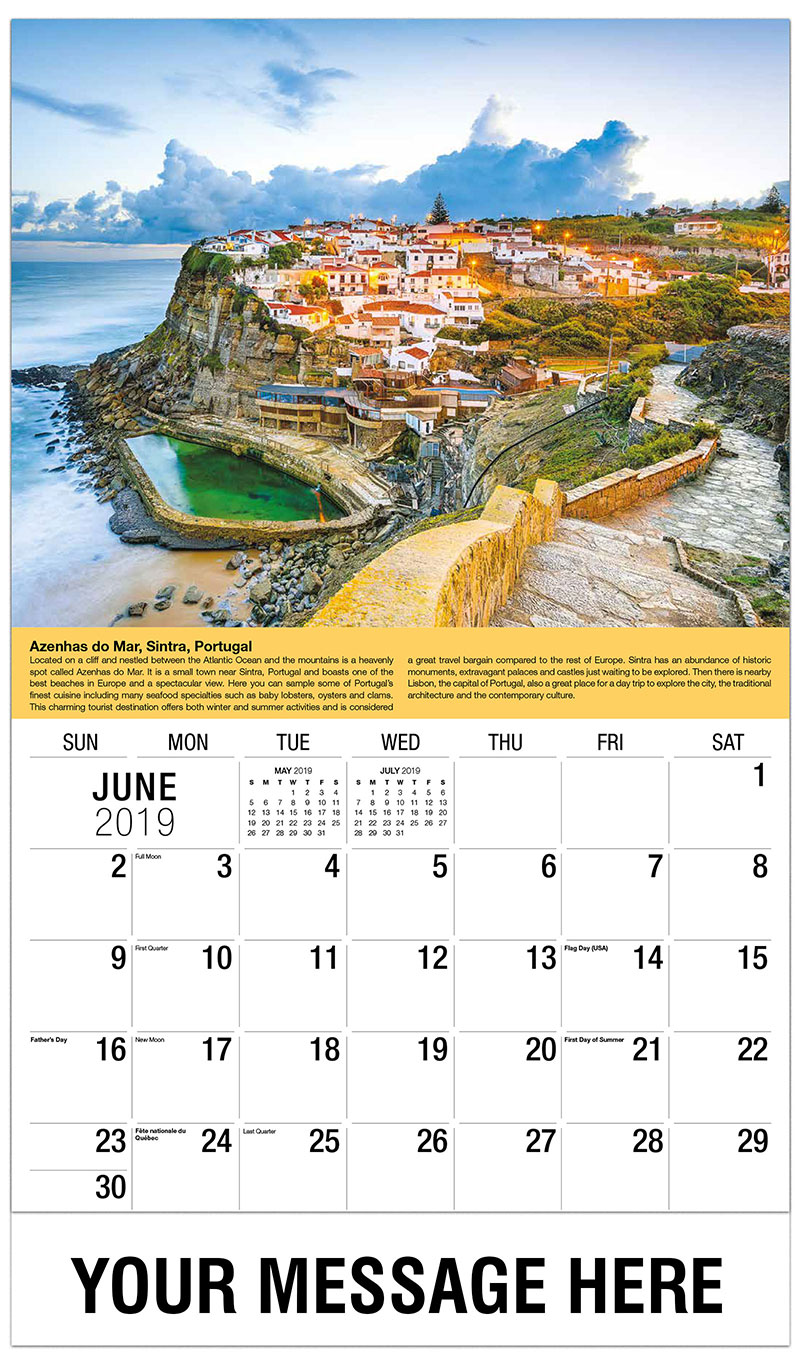 2019 Promotional Calendar - Azenhas Do Mar, Sintra, Portugal - June