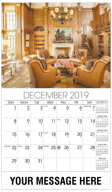 Interior Design Promotional Calendar 65 Business Advertising Calendar
