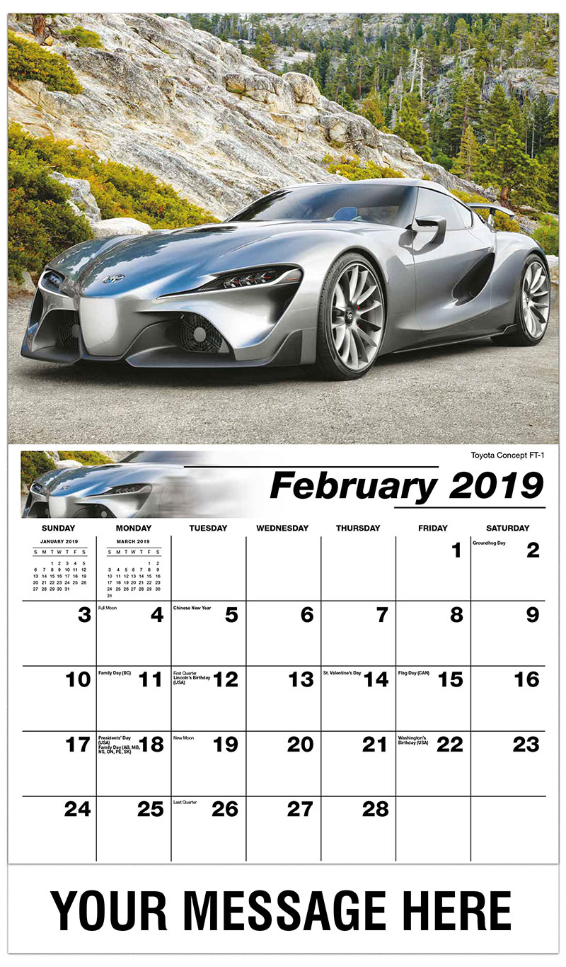 Toyota Ft 1 >> Exotic Car Promotional Calendar | 65¢ Business Advertising ...