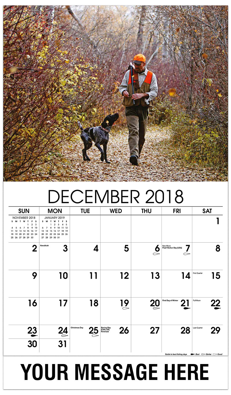Fishing and Hunting Promotional Calendar   65¢ Business ...