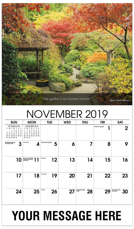 flowers and gardens promo calendar